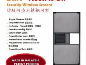"""""""HOOK it ON"""" Window Screen"""