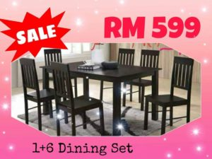 1 + 6 Dining Table Set